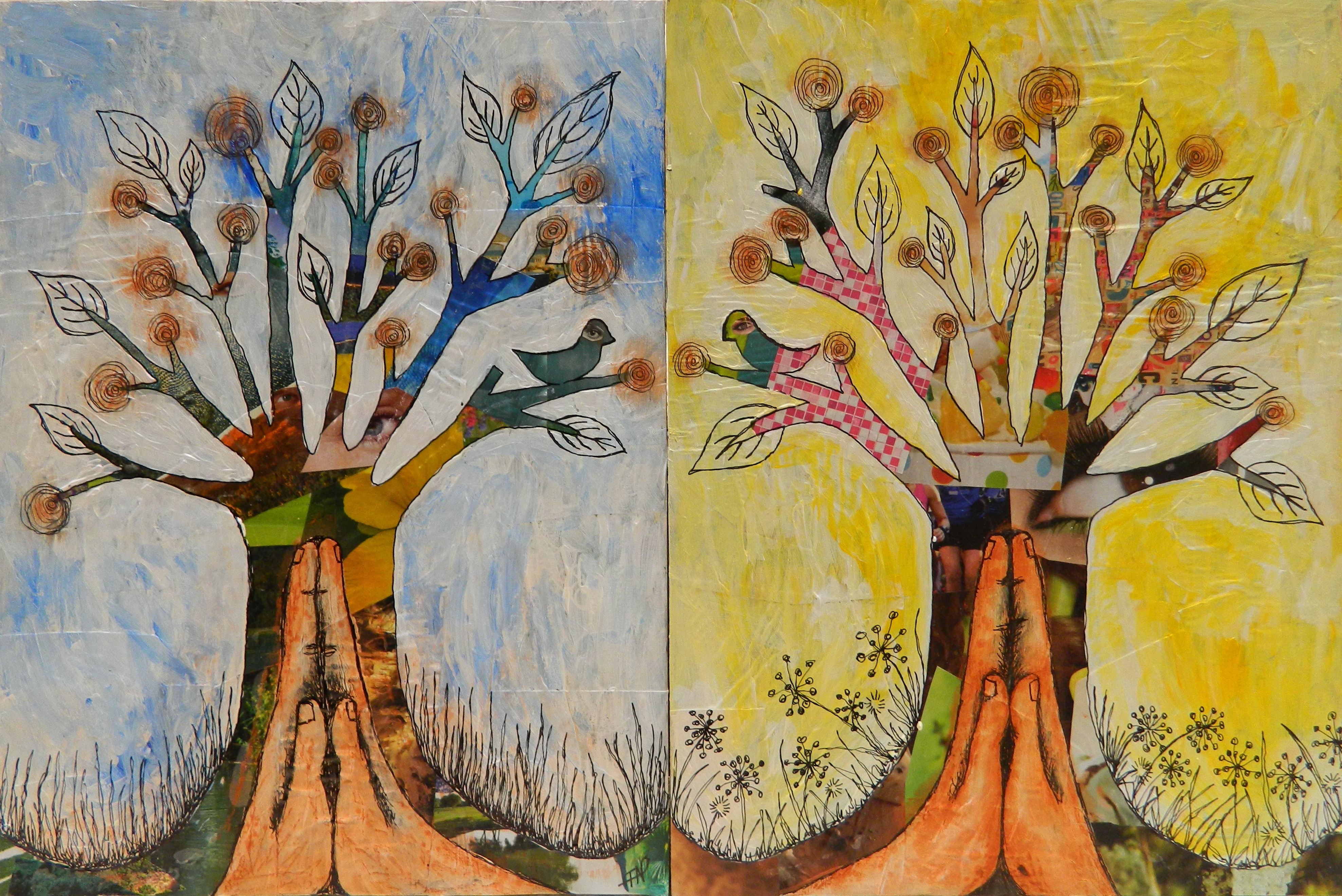Collage artful explorations in nature - Painting ideas ...